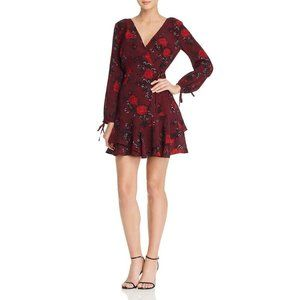 Band Of Gypsies Mariah Cut-Out Wrap Floral Dress